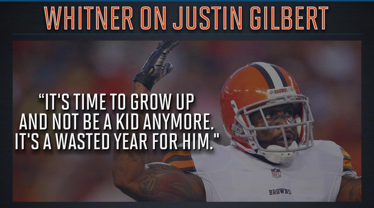 Browns' Whitner on Gilbert: 'Grow up'