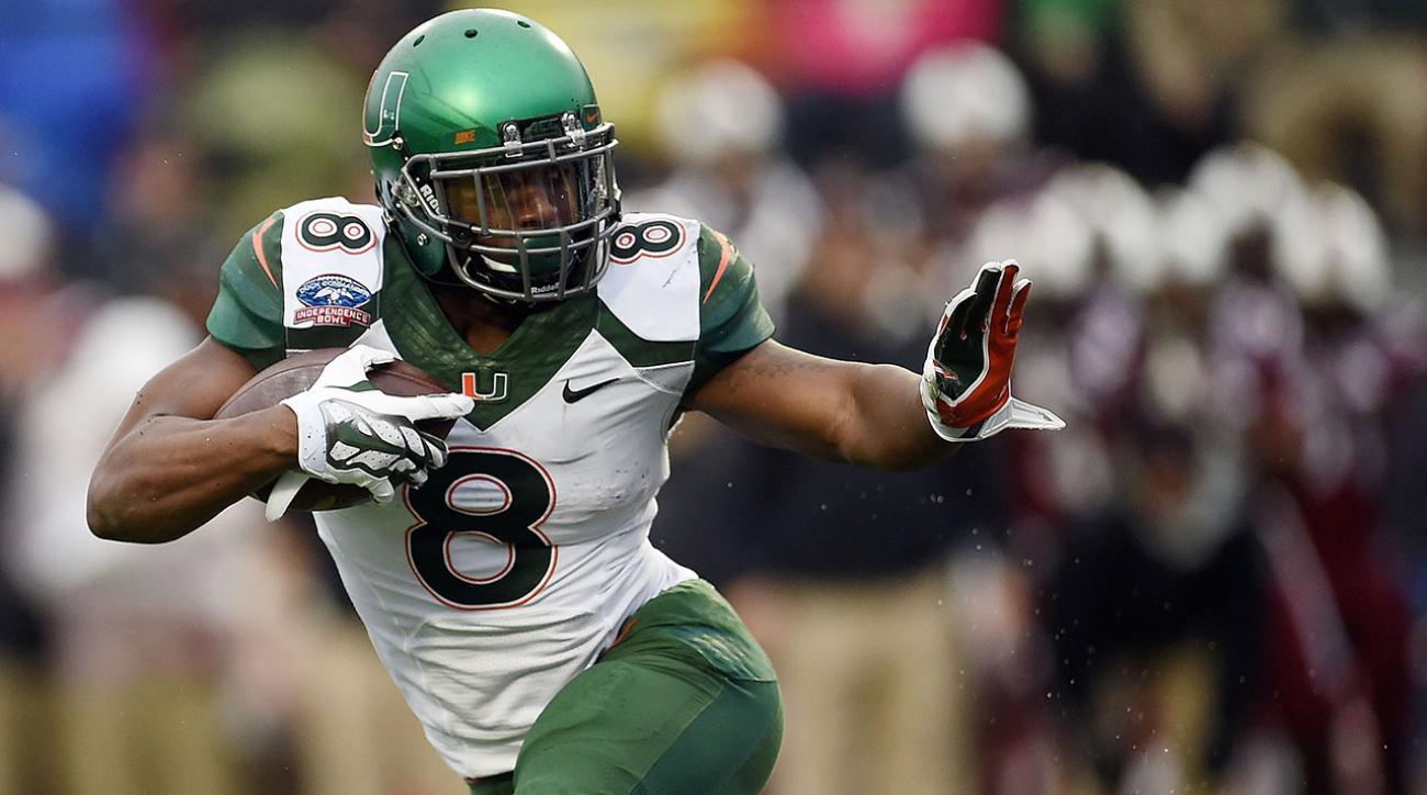 Hurricanes RB Duke Johnson to enter the NFL draft