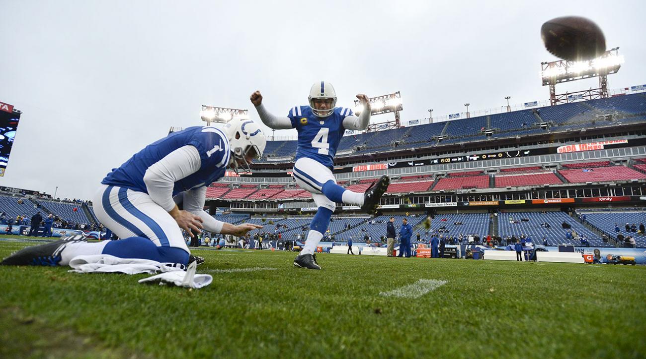 Colts Kicker Adam Vinatieri ruins perfect season