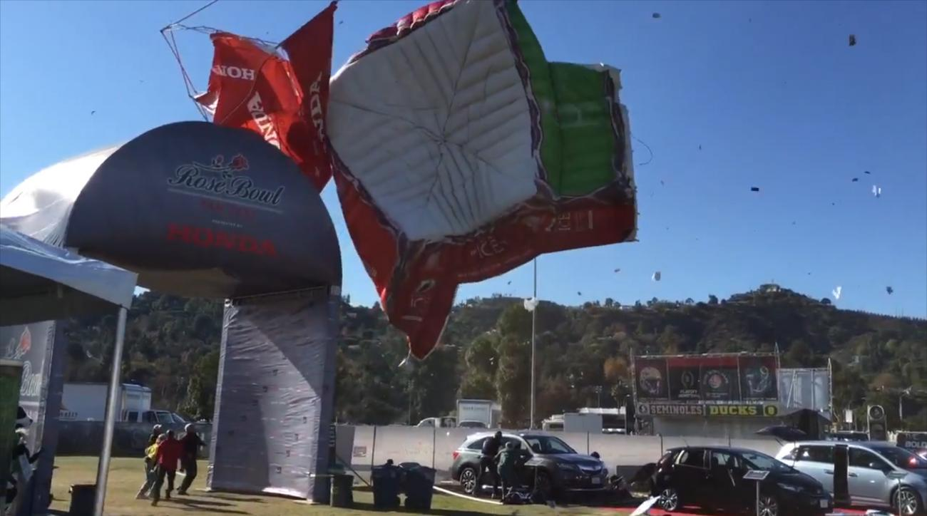 Four injured after high winds destroy tents at fanfest