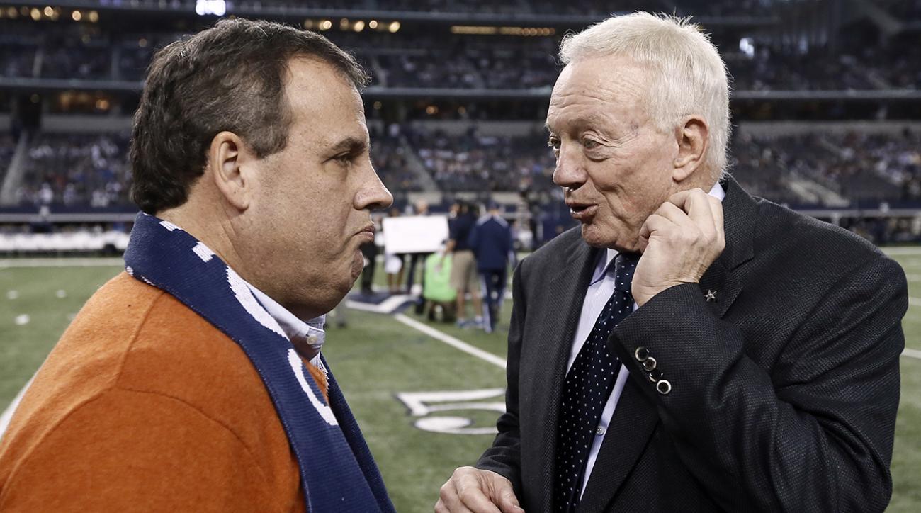 Jerry Jones: Chris Christie part of Cowboys' 'mojo'