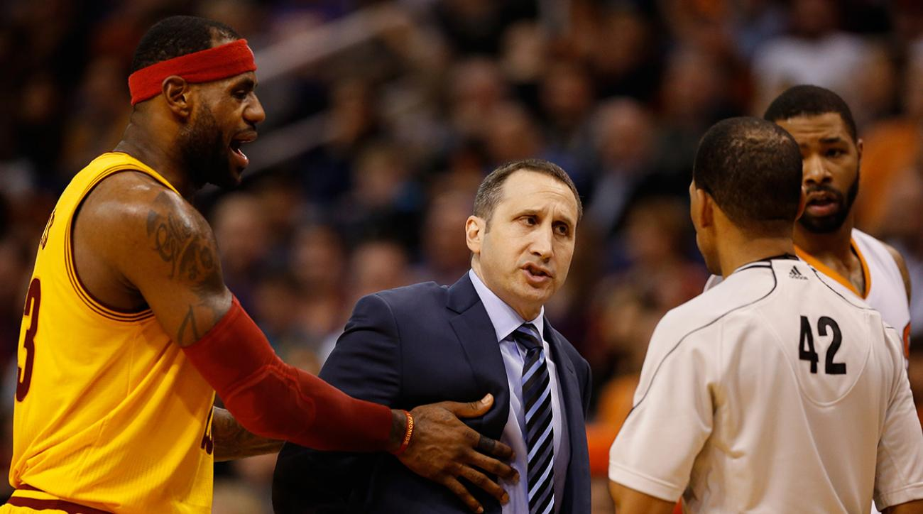 lebron james david blatt shove