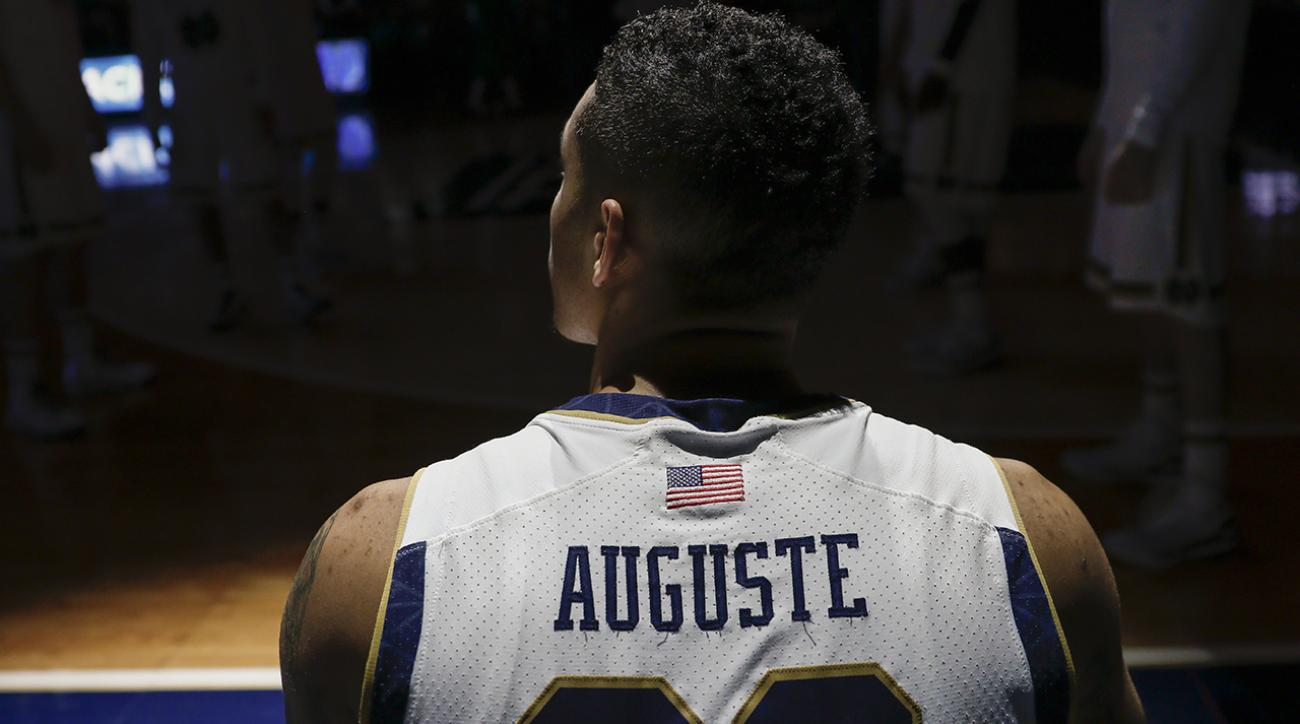 zach auguste suspended notre dame