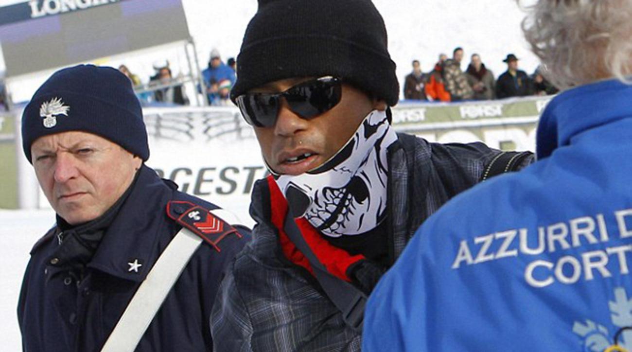 Lindsey Vonn gets surprise visit from toothless Tiger Woods