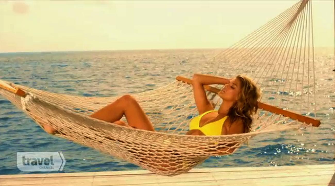 """""""The making of sports illustrated swimsuit 2015"""", sports illustrated models, Hot, Sexy, Girls having fun, Beautiful, Nina Agdal, Cover Model, Travel Channel, """"beach week"""", """"Travel Channel"""" (image)"""