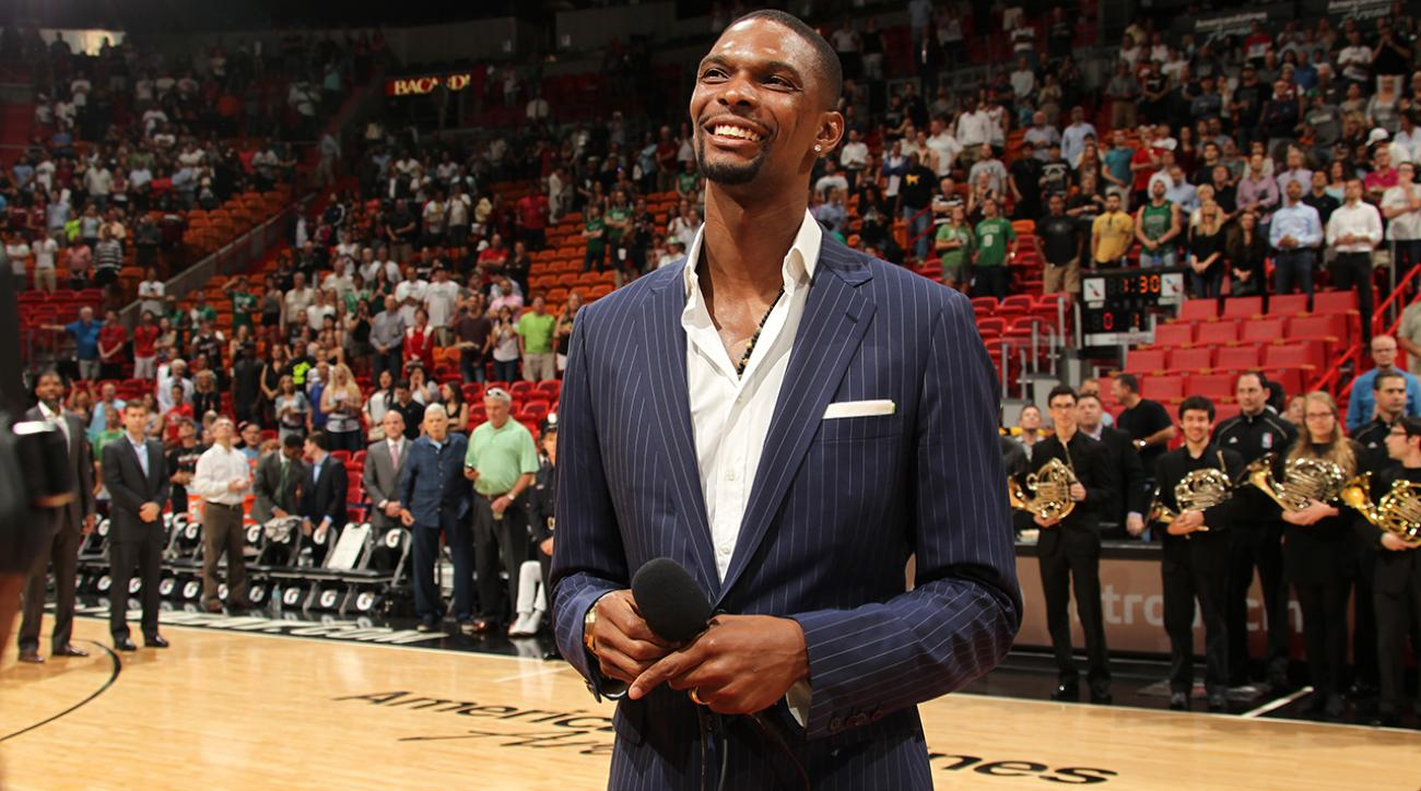 Watch: Miami Heat F Chris Bosh thanks fans for support