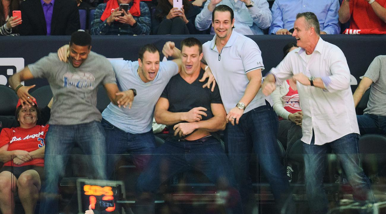 Watch: Gronk goes nuts on Dance Cam at Clippers game