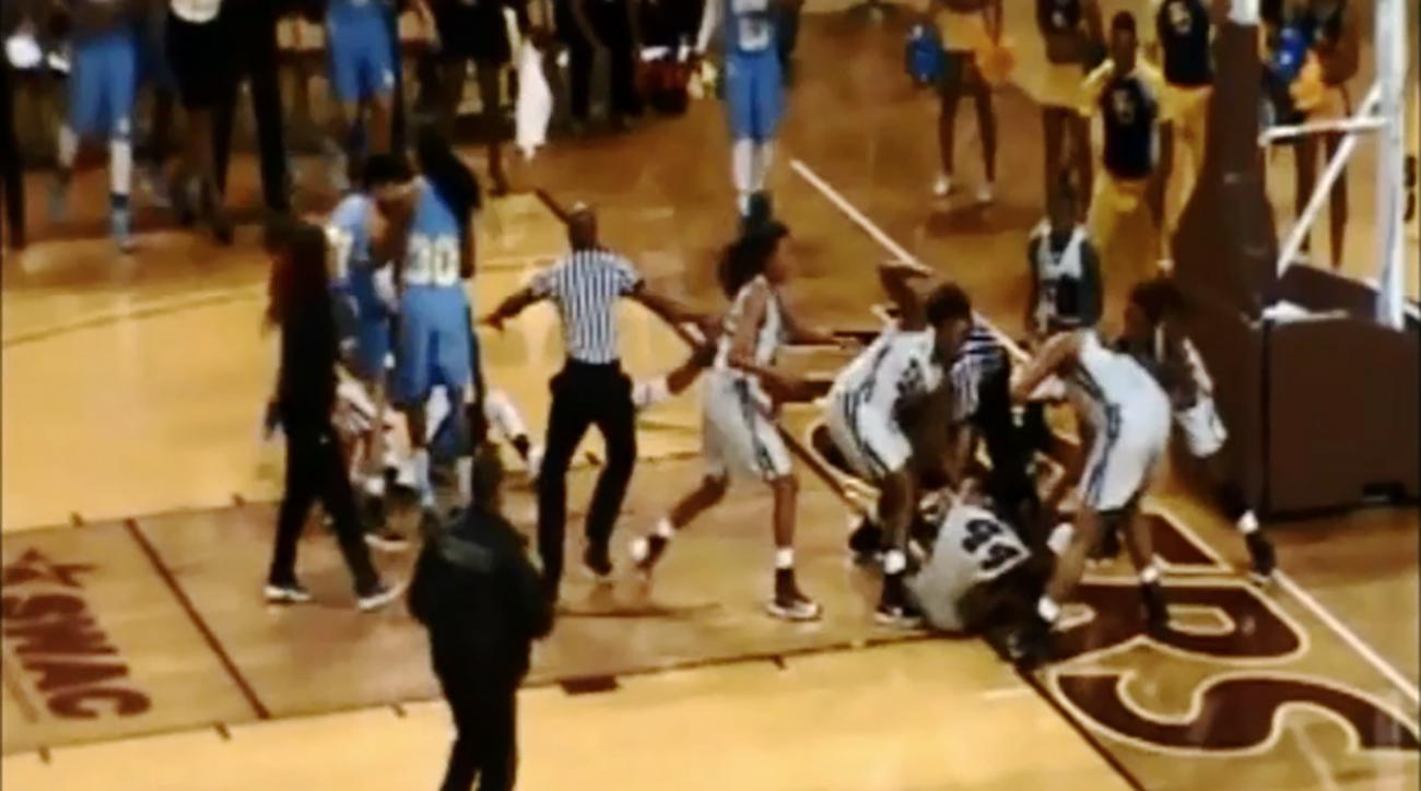 Massive women's college basketball brawl leads to 15 suspensions
