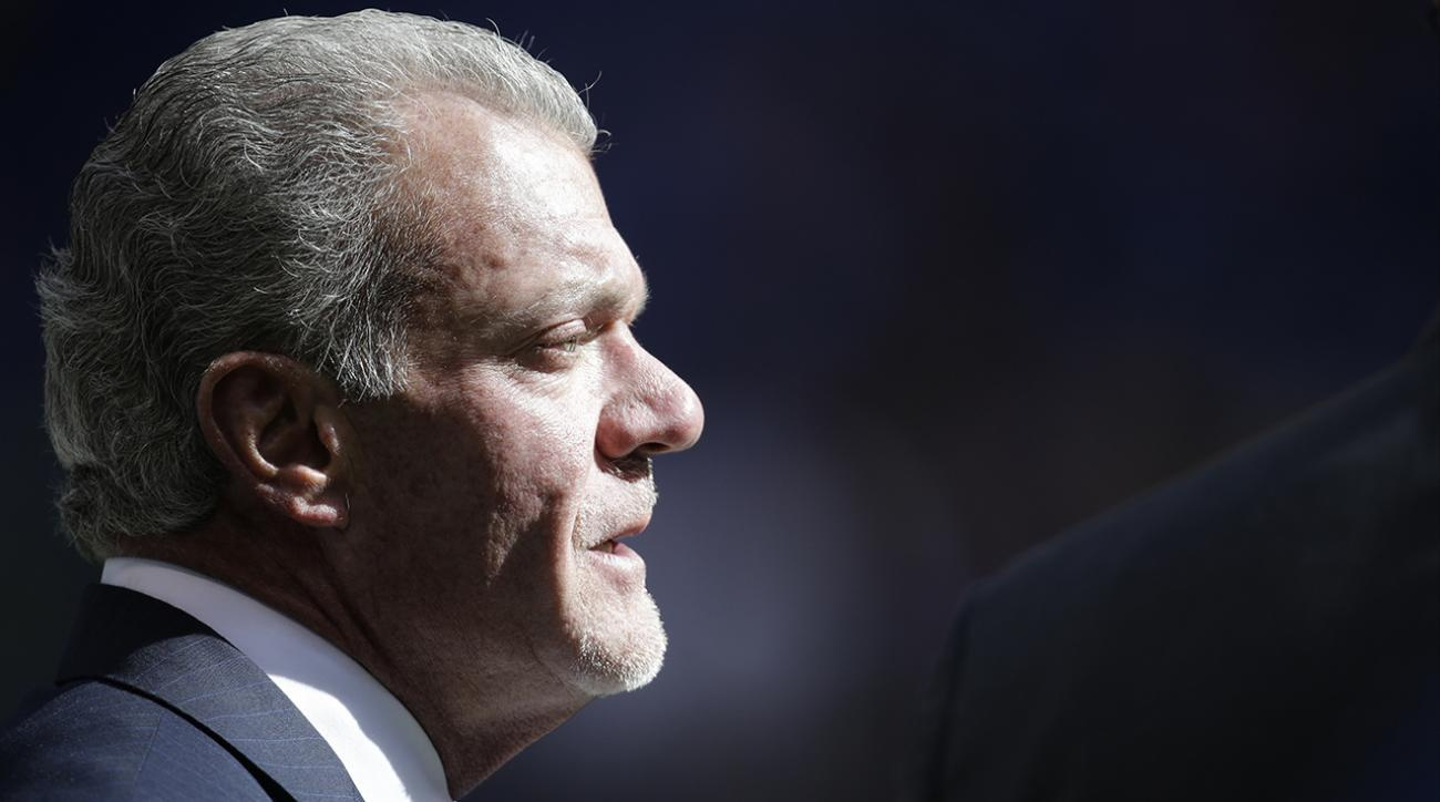 Colts GM Jim Irsay won't talk about Andrew Luck's contract until next year