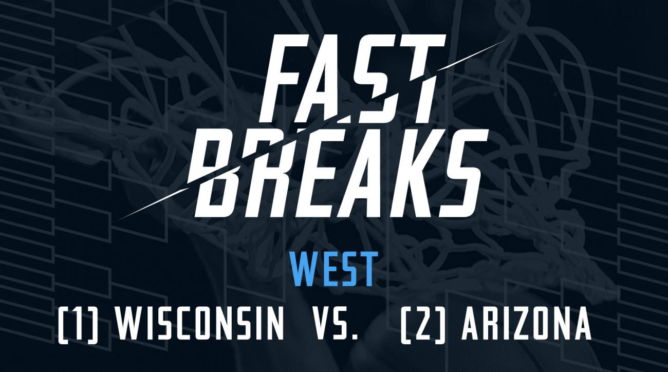 Fast Breaks: (1) Wisconsin vs. (2) Arizona IMG