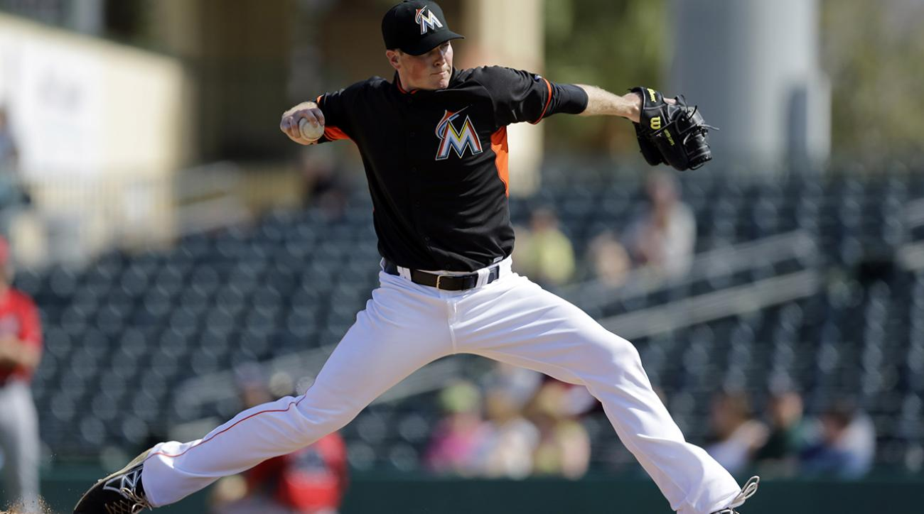 Marlins pitcher Carter Capps shows off quirky one-hop delivery