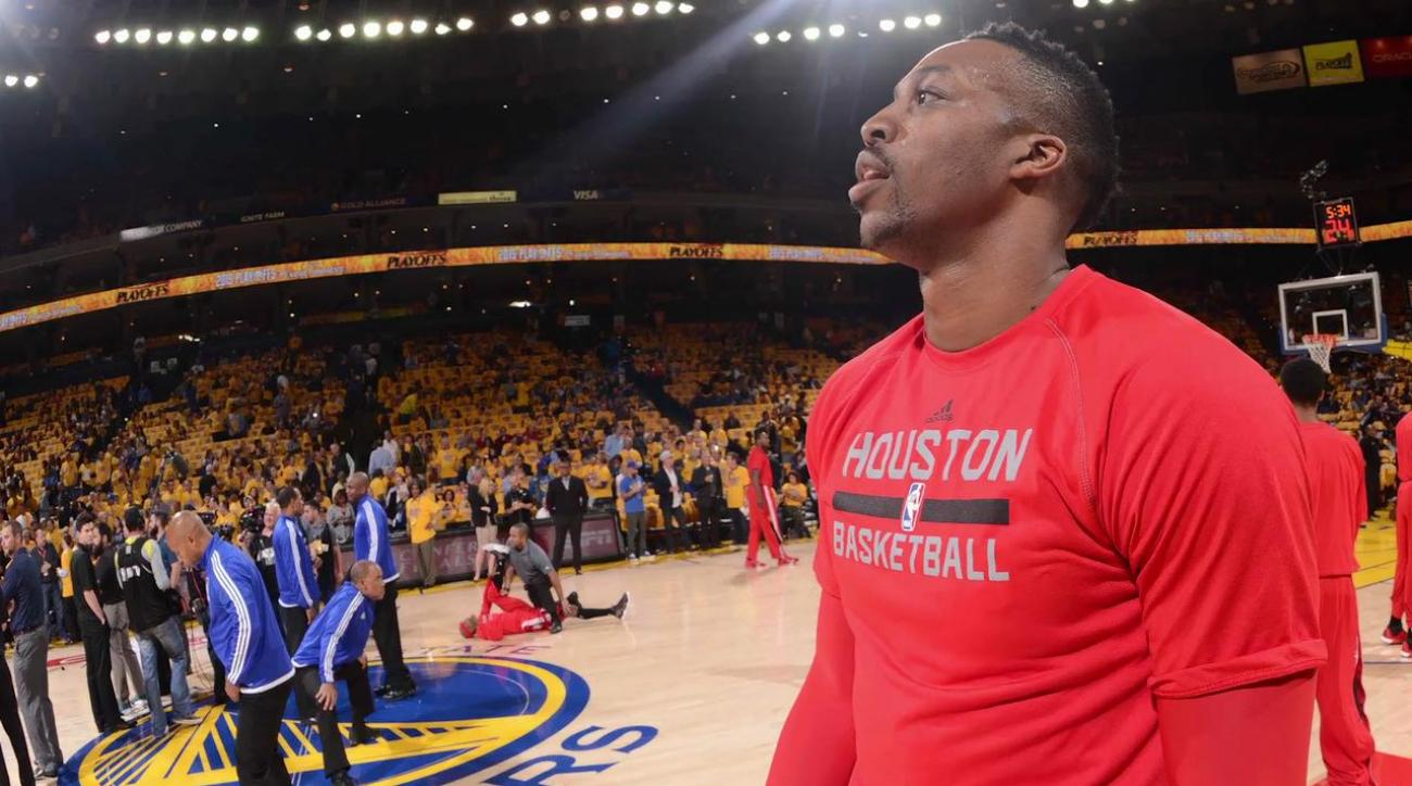 houston rockets dwight howard knee injury