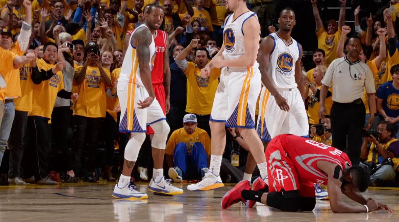 Harden fails to get last shot off in loss to Warriors