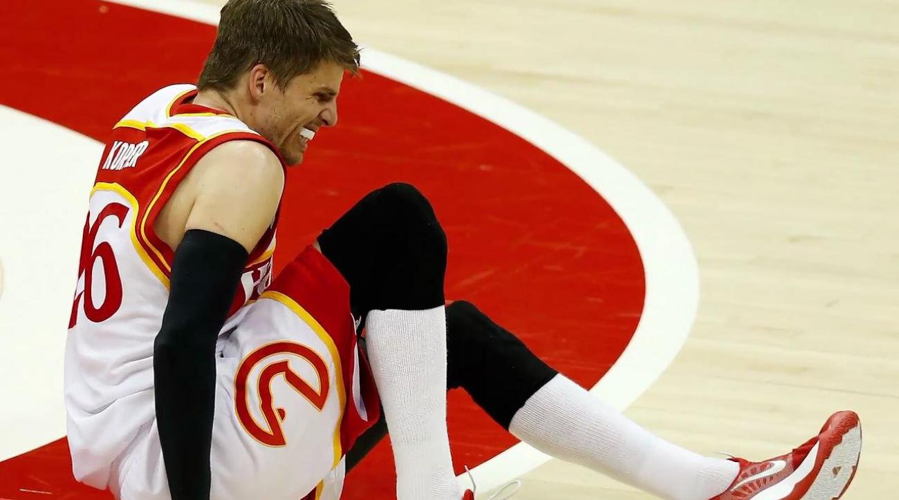 Hawks' Kyle Korver will miss playoffs due to severe ankle sprain (IMAGE)