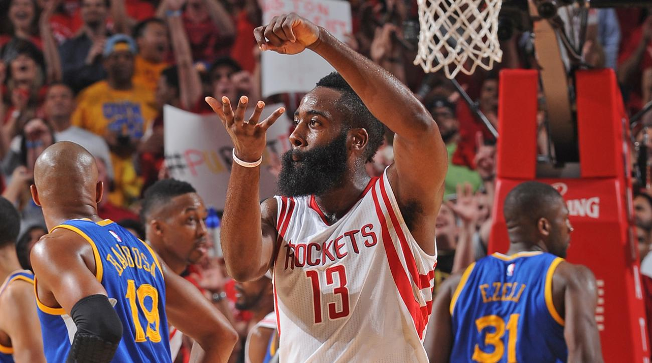 James Harden drops 45 points in Rockets win over Warriors
