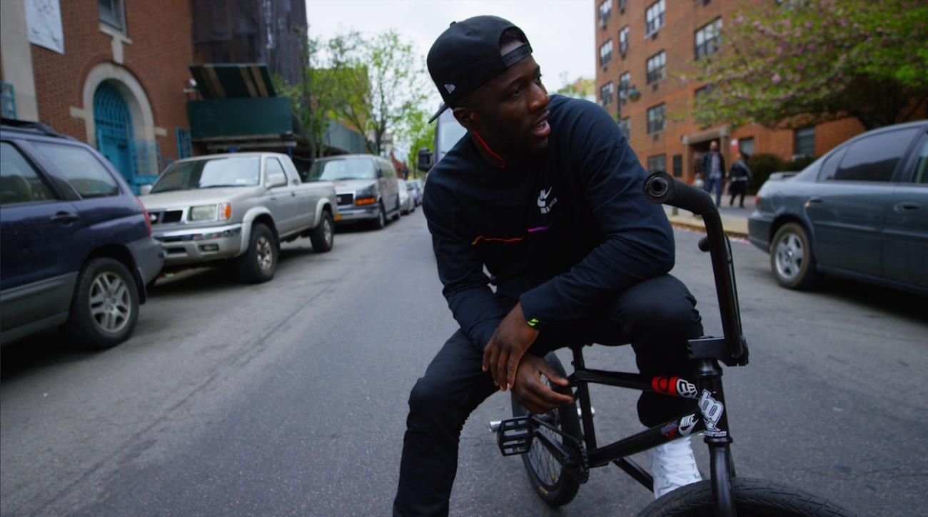 BMX rider Nigel Sylvester hits the streets of NYC