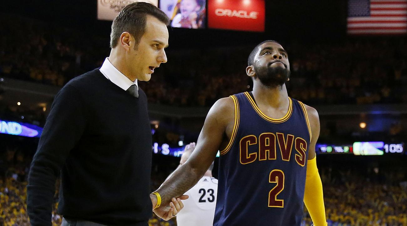 Kyrie Irving out of NBA Finals with fractured kneecap