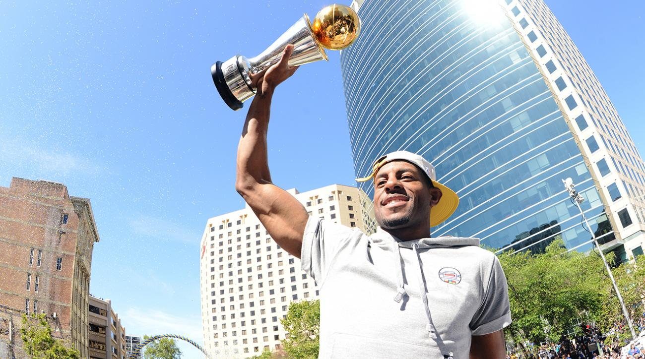 Andre Iguodala tells Jimmy Kimmel about Warriors' Vegas celebration