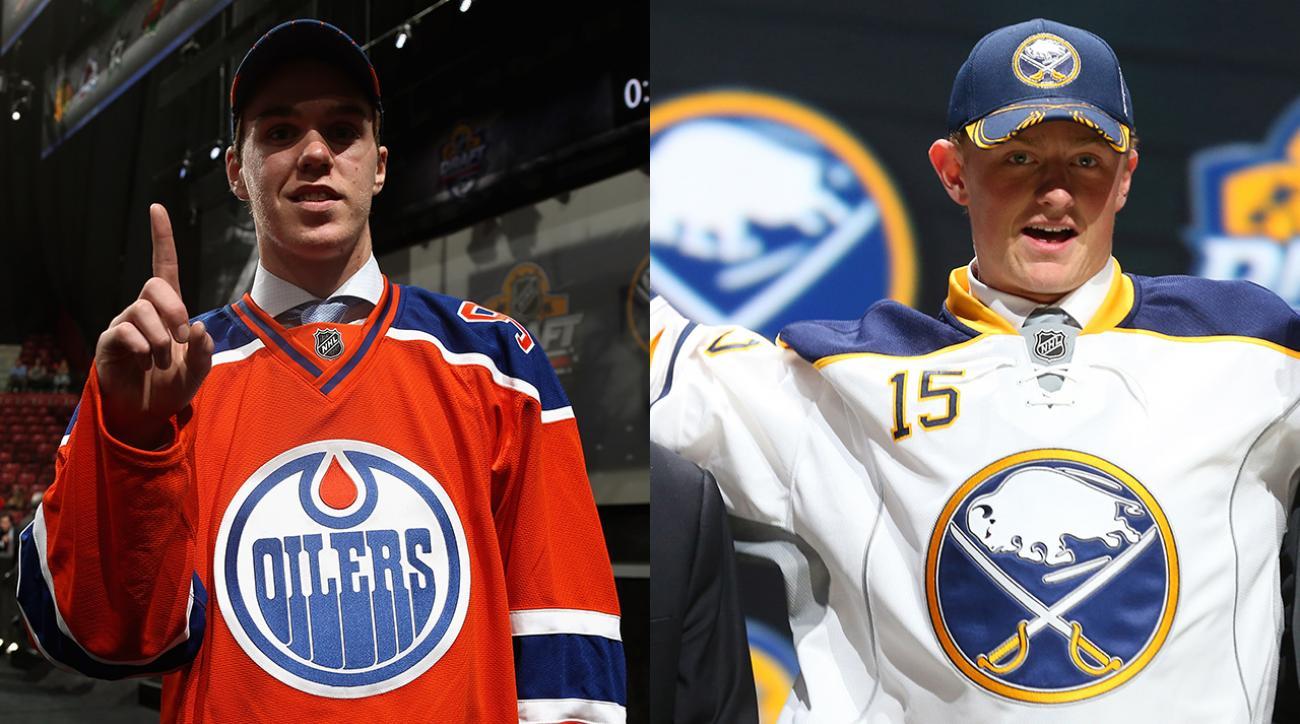 Connor McDavid, Jack Eichel go 1-2 in NHL Draft IMAGE