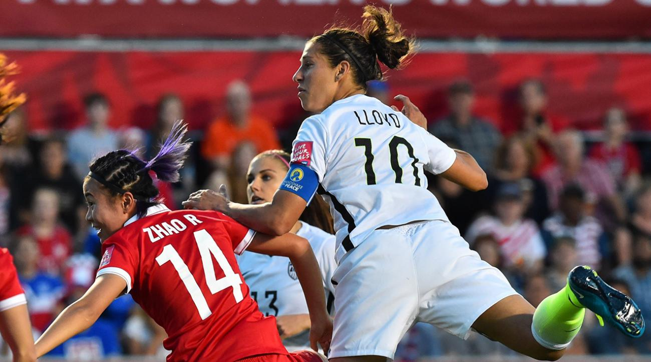 USWNT beats China on Lloyd goal, reaches World Cup semifinals IMAGE