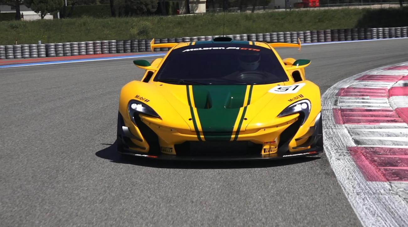 Behind the wheel of the McLaren P1 GTR