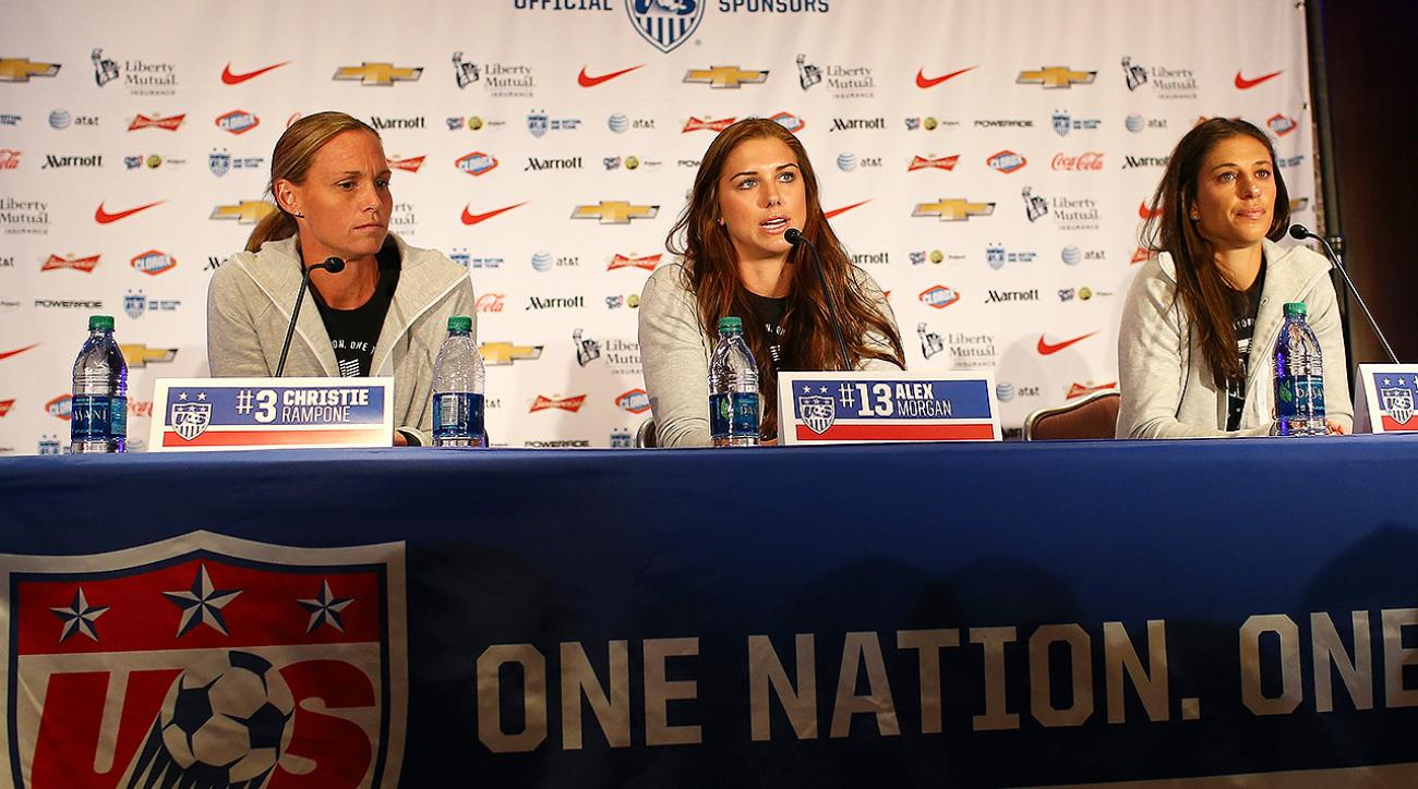 uswnt, christie rampone, fifa, Equal play for women in FIFA, captain Christie Rampone, 2015 Fifa Women's World Cup Champions, FIFA Equal Pay Women