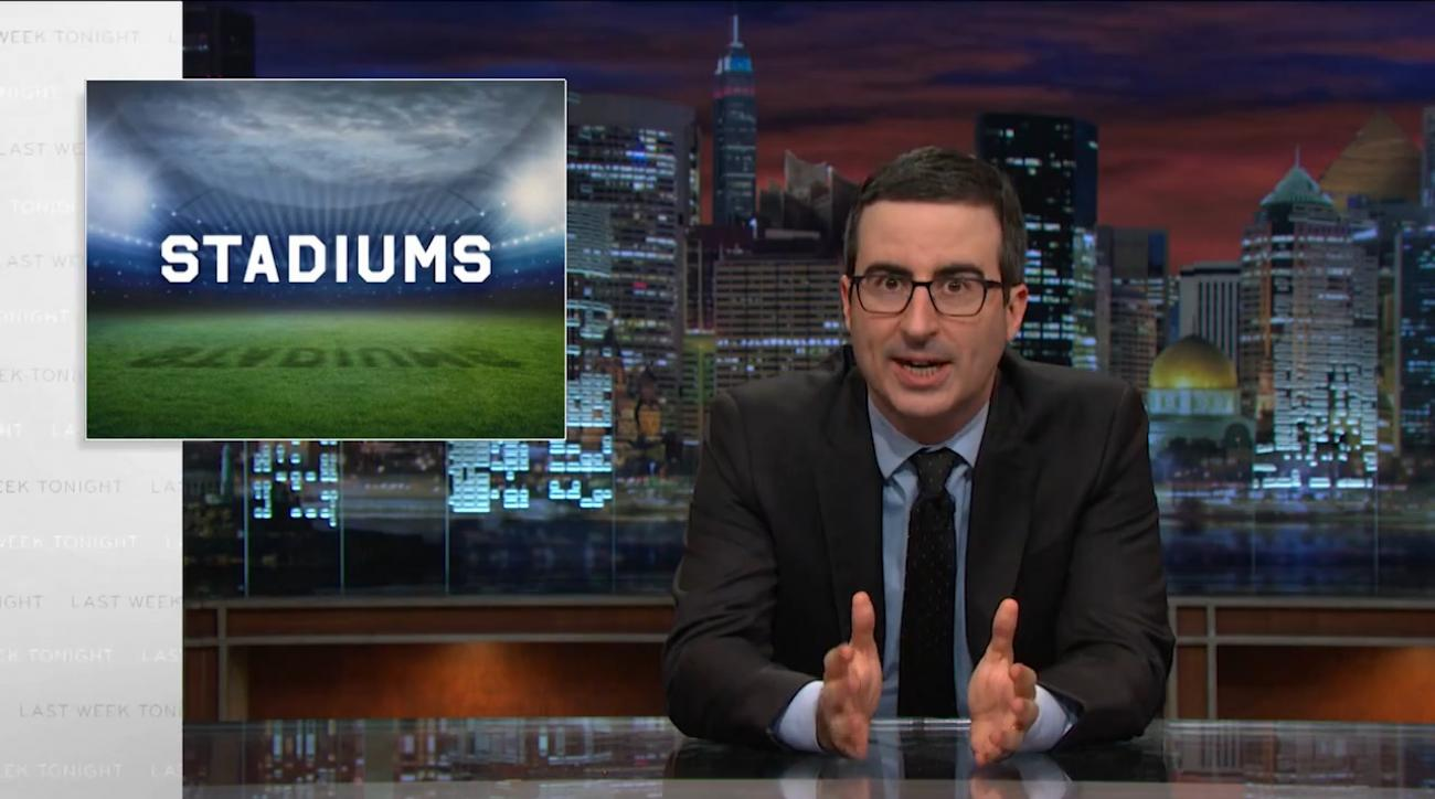 John Oliver takes aim at teams demanding publicly-funded stadium IMAGE