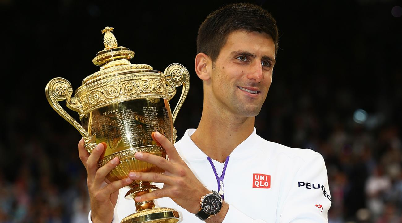 2015 Wimbledon men's champion Novak Djokovic
