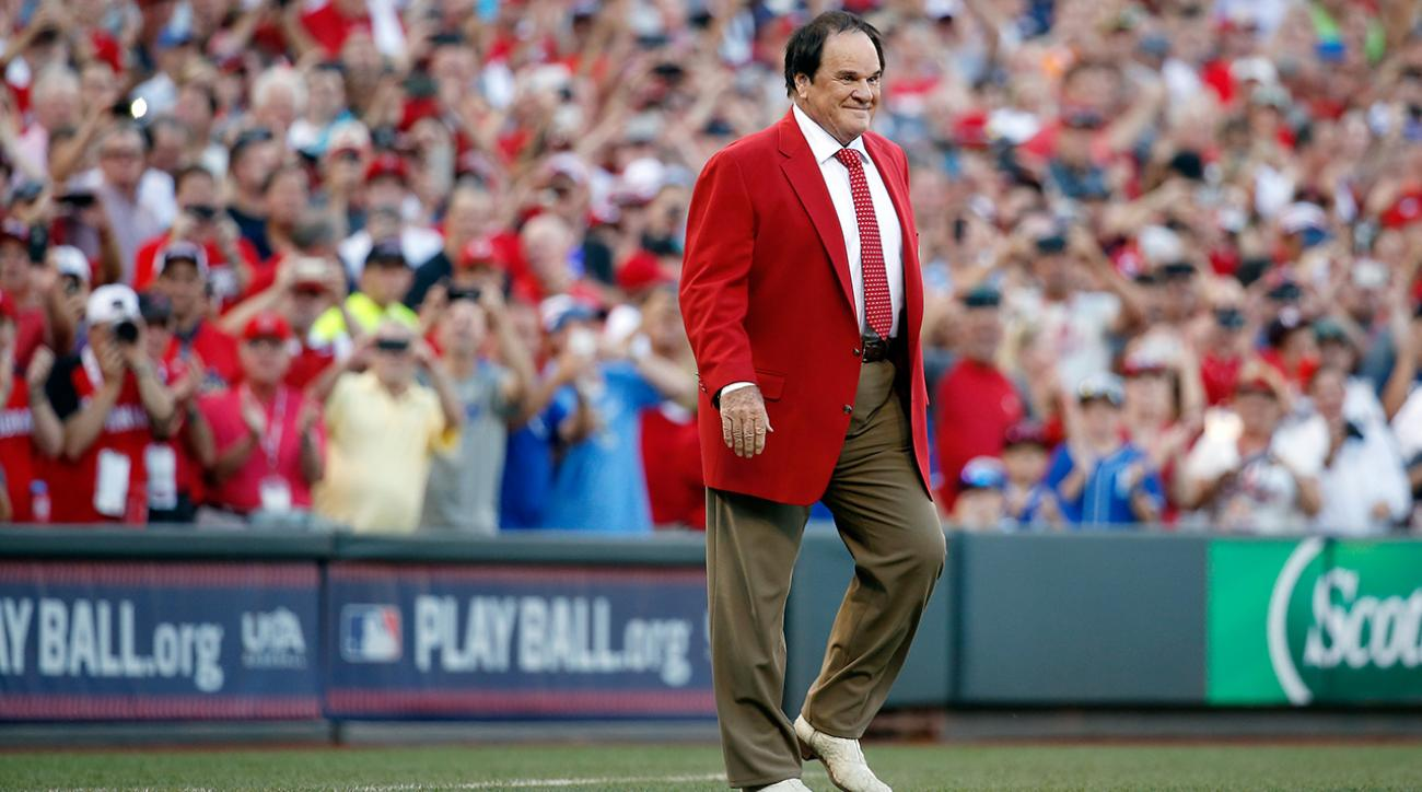 Reds great Pete Rose honored at MLB All-Star Game