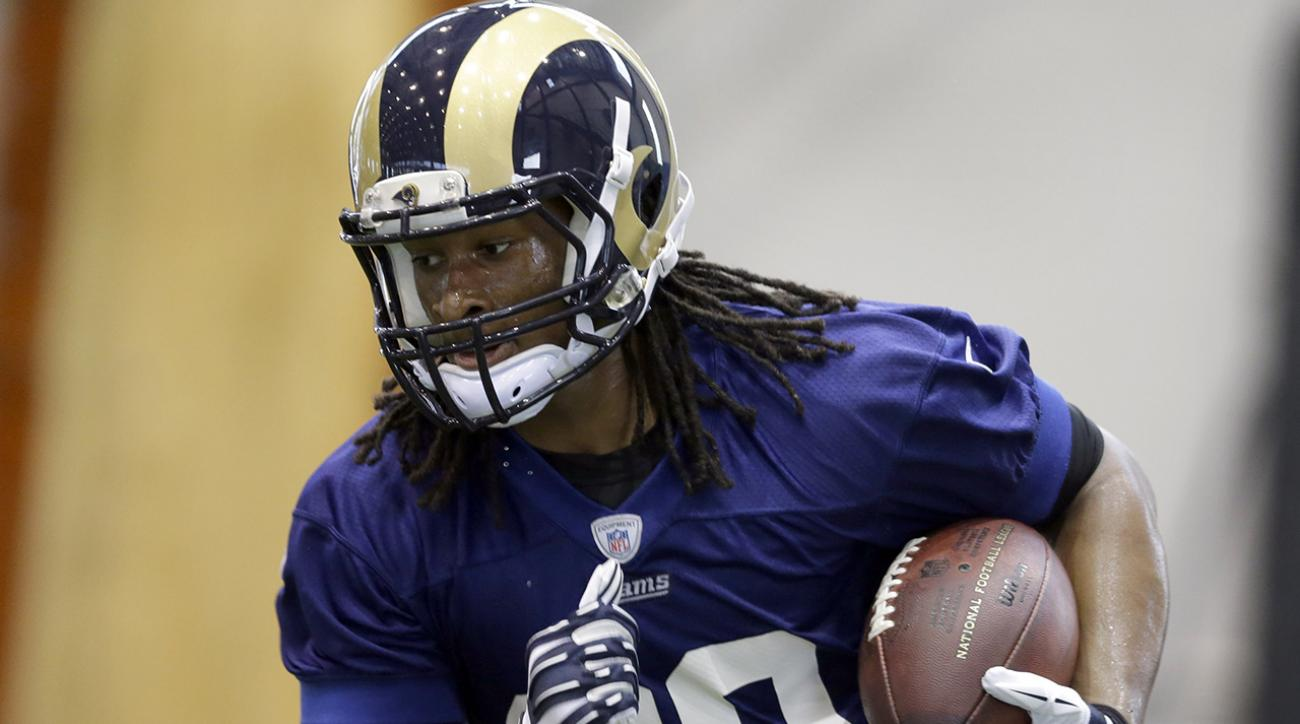 Todd Gurley is just happy to be back in pads and on the field
