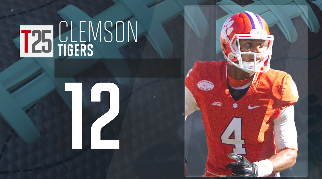 clemson tigers, College football, preseason top 25, sports illustrated, college football top 25, deshaun watson