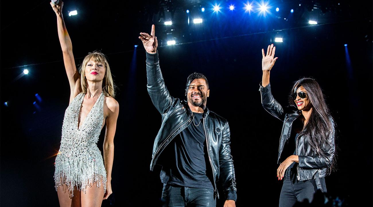 Watch: Russell Wilson makes an appearance at Taylor Swift Concert