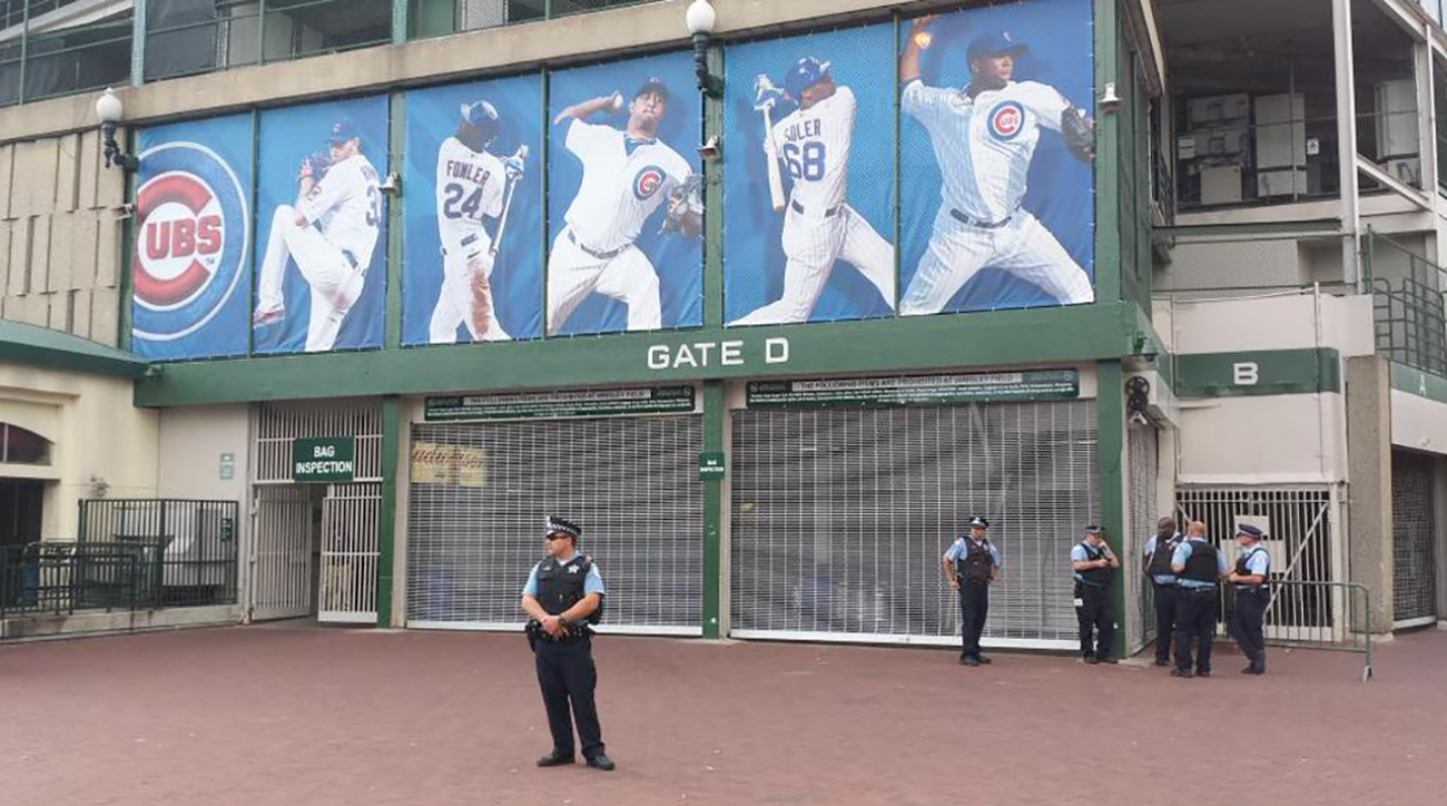 Wrigley Field evacuated after game following bomb threat  IMAGE