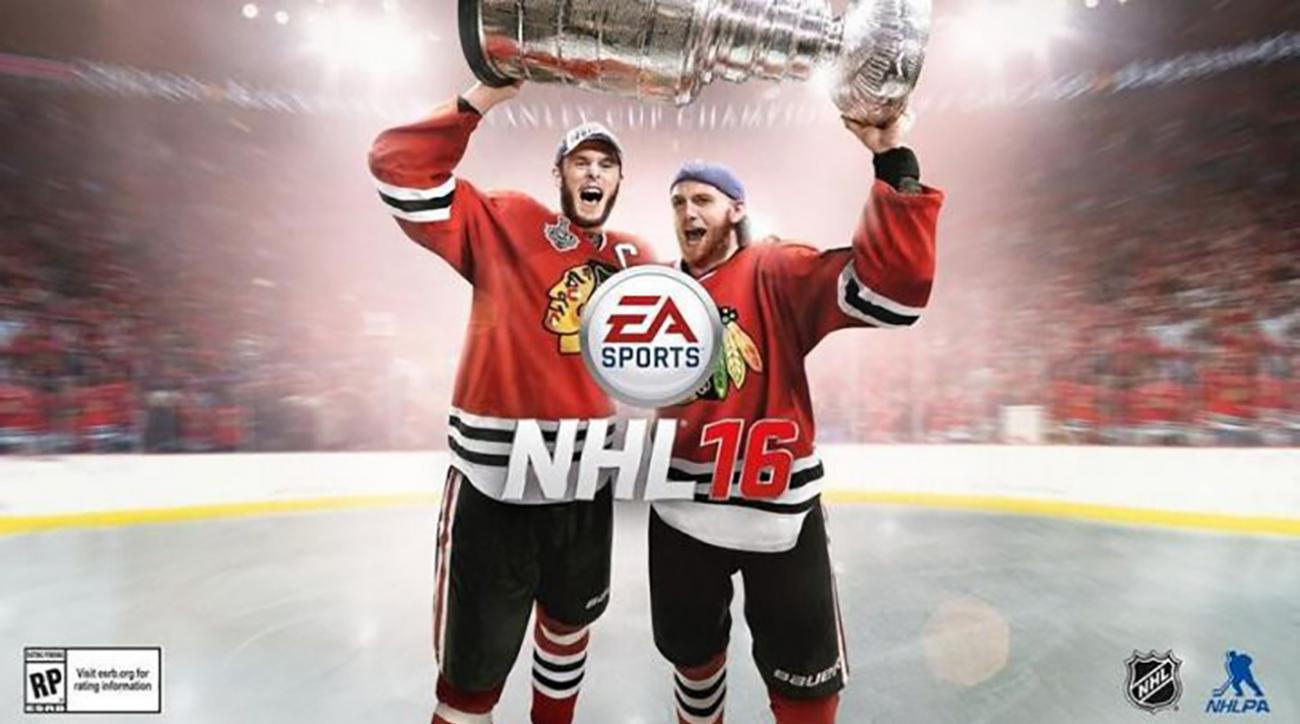 Patrick Kane off NHL 16 cover
