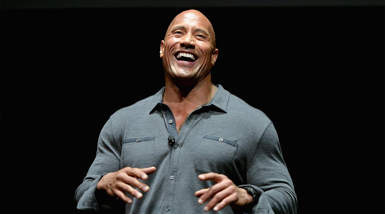 Dwayne 'The Rock' Johnson gets jiggy in the gym