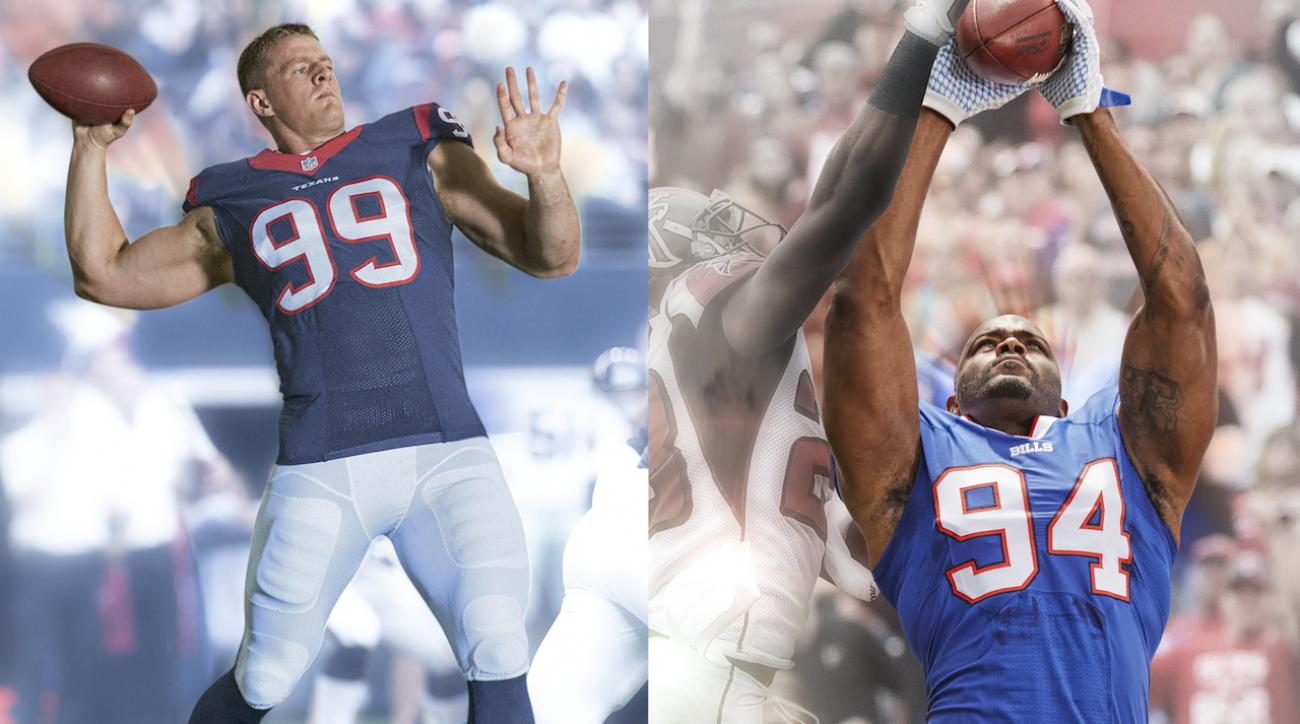 Trading places: J.J. Watt and Mario Williams on offense