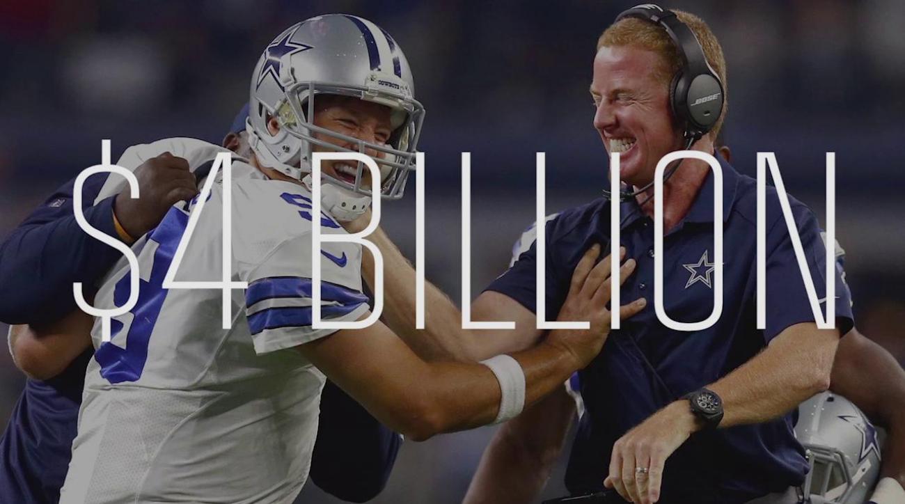 Forbes: Cowboys worth $4 billion, Patriots second at $3.2B