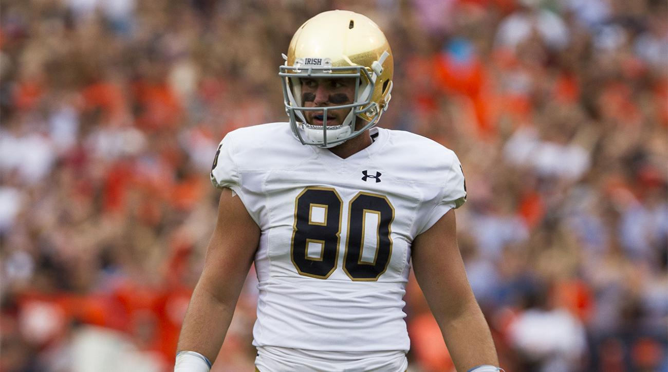 Report: Notre Dame TE Durham Smythe out for season