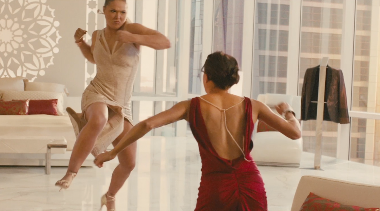 Furious 7, Michelle Rodriguez, MMA, Ronda Rousey, sports illustrated
