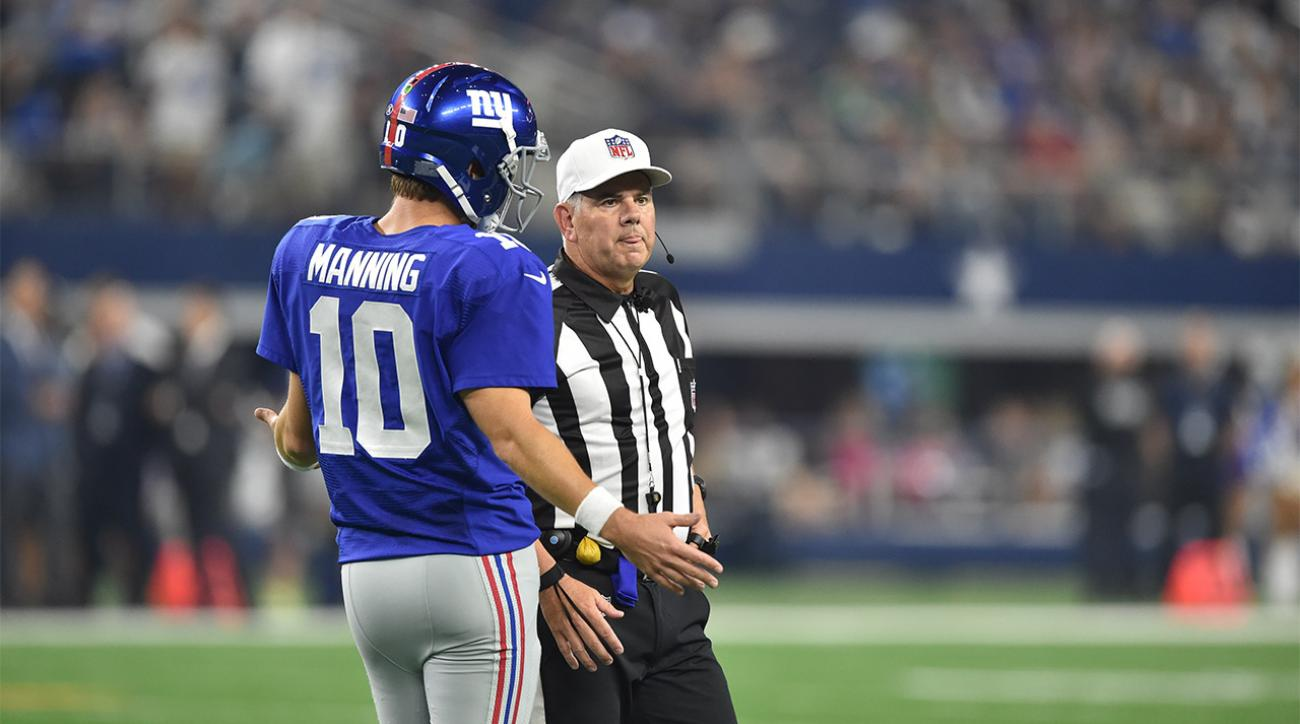 NFL admits two blown calls in Giants-Cowboys game IMAGE