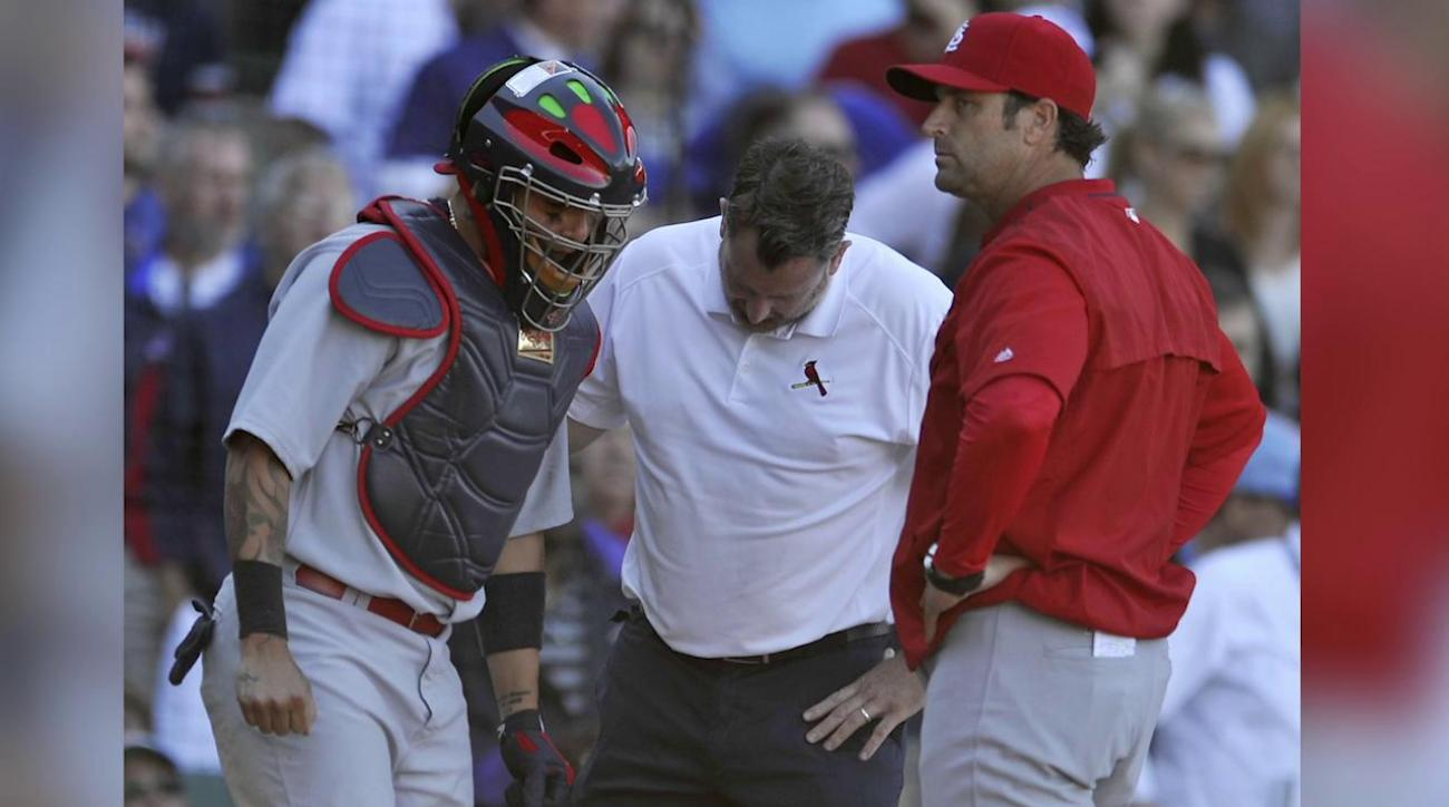 Cardinals' Yadier Molina (thumb) to miss remainder of regular season  IMAGE