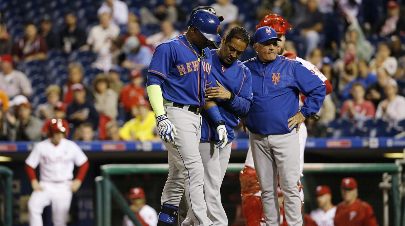 Mets OF Yoenis Cespedes (hand contusion) leaves game vs. Phillies