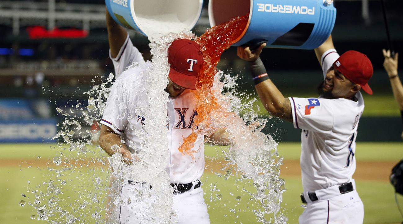 Rangers in playoffs, near Al West title after win over Angels IMAGE