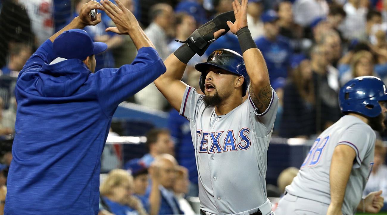 Rangers top Blue Jays 6-4 in 14 innings, take 2-0 lead in ALDS IMAGE