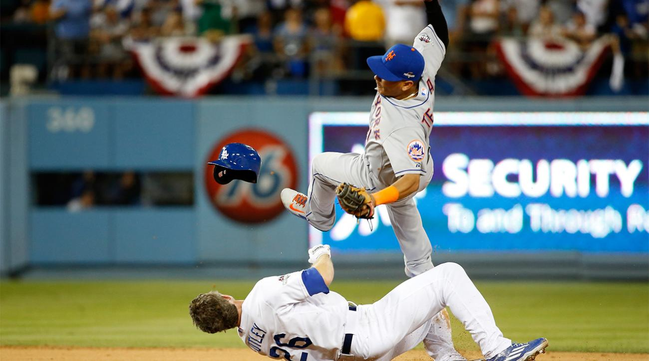Dodgers' Chase Utley suspended 2 playoff games for takeout slide  into Ruben Tejada IMAGE