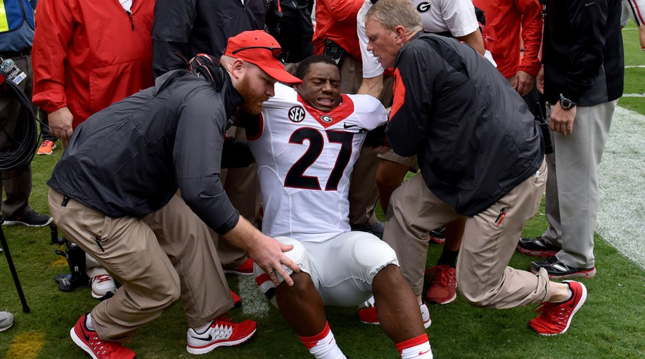 Georgia RB Nick Chubb to undergo knee ligament surgery