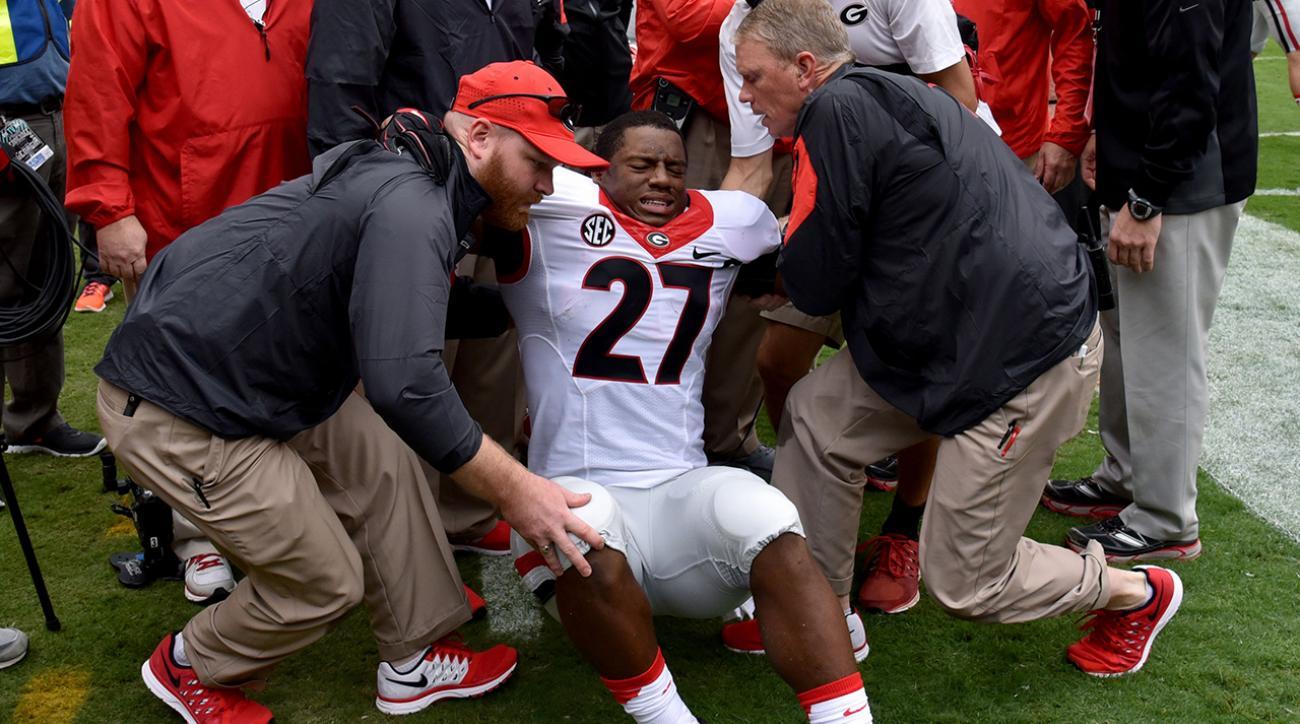 Georgia RB Nick Chubb to undergo knee ligament surgery