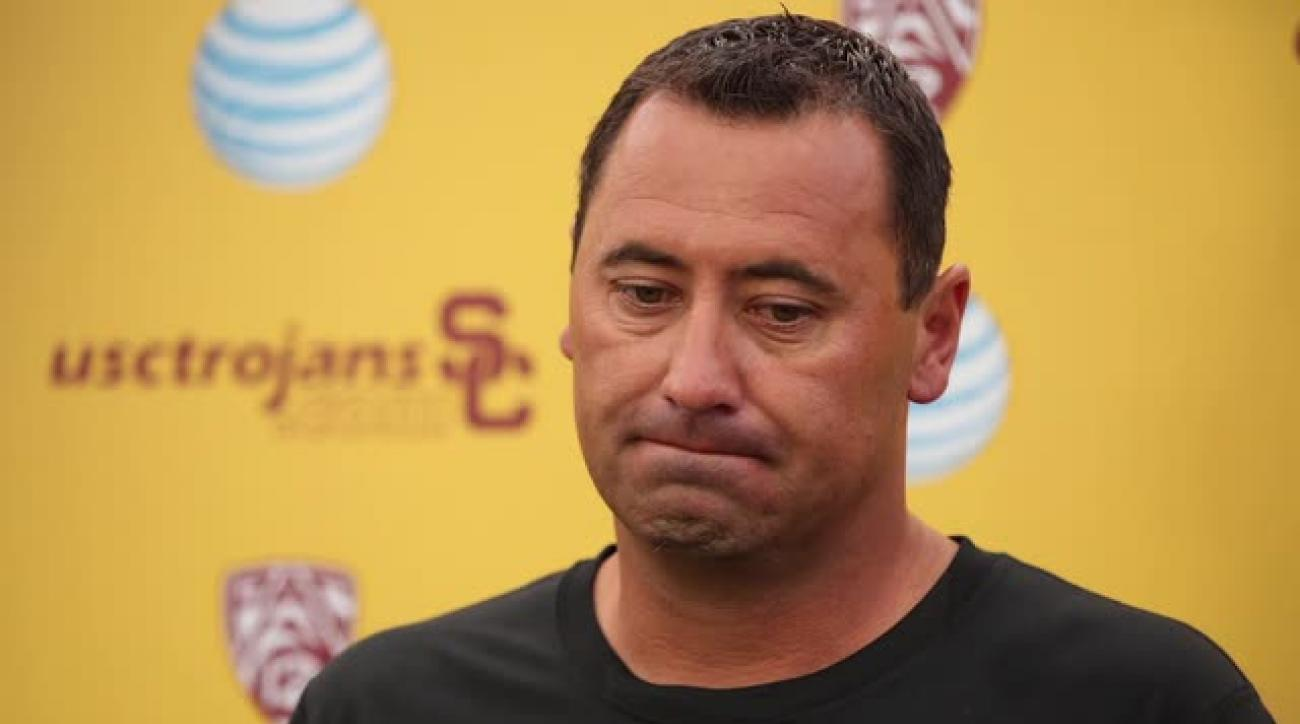 Report: USC fired coach Steve Sarkisian for cause IMAGE