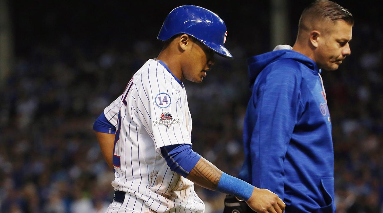 Cubs SS Addison Russell ruled out for NLCS with hamstring injury IMAGE