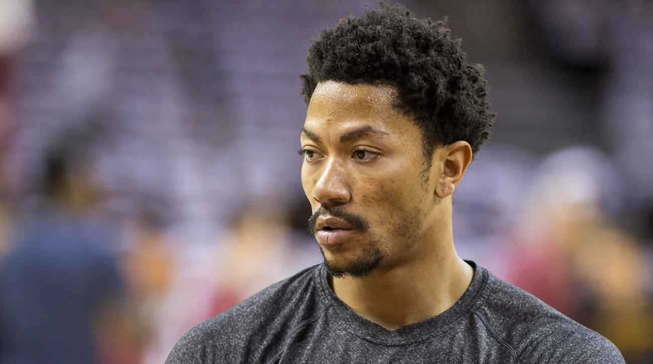 Bulls PG Derrick Rose experiencing double vision with both eyes open IMAGE